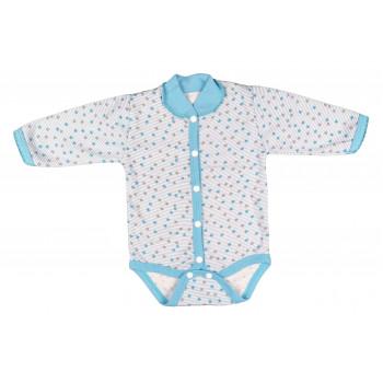 Боди Звездочки Серо-голубой Начес 56 62 68 размеры для новорожденных мальчиков