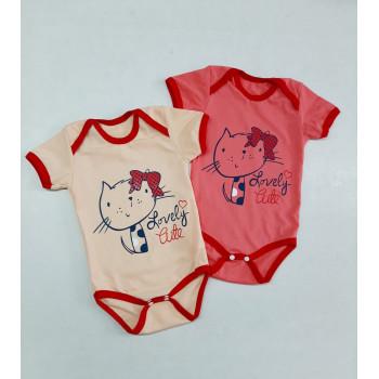 Боди футболки Кулир для девочек Размеры 80 86