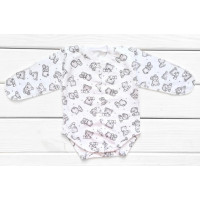 Теплые из футера боди 56 62 68 размеры для новорожденных Мишка