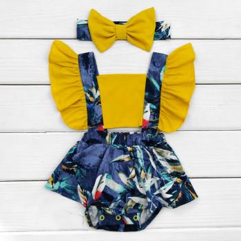 Детское боди-платье с повязкой Ночь для девочек