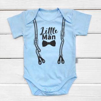 Боди футболка Little Man Голубой для мальчиков 80 86 размер