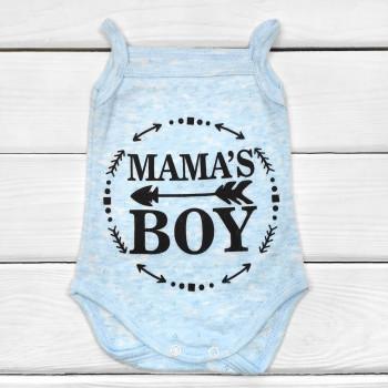 Боди Mama's Boy Голубой 62 74 размер Рибана для мальчика