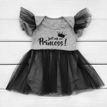 Боди с фатиновой юбочкой Принцесса 56 62 размеры для девочек