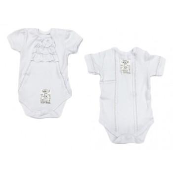 Нарядные белые боди 68 размера для малышей