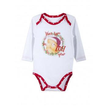 Теплый новогодний боди для малышей