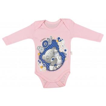 Розовые детские бодики с принтом 62 68 74 80 86 размеры