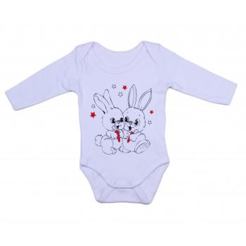 Боди с длинными рукавами Белый Интерлок для малышей