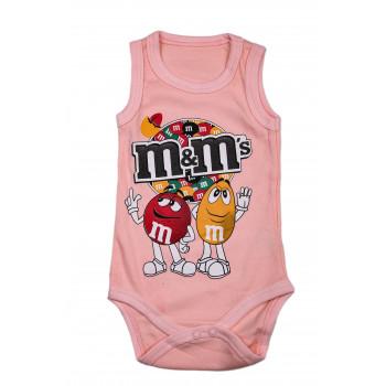 """Боди майка Розовый """"M&M's"""" для девочек"""