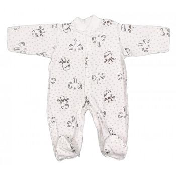 Теплый (ткань начес) человечек 50 62 68 74 размеры для новорожденных Слоник и Жираф