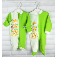 """Летний (ткань интерлок) человечек """"Жирафик"""" для новорожденных"""