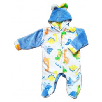 Теплый (велсофт) детский комбинезон 68 размера Дино