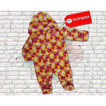 Комбинезон детский из велсофта 62 68 размеры для девочек Сердечка