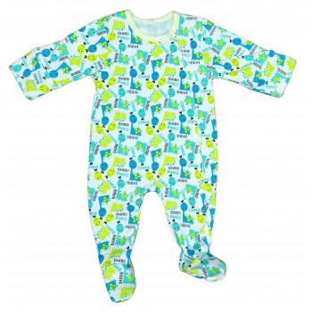 Человечек футер с начесом на кнопках для ребенка 56 62 68 размеры