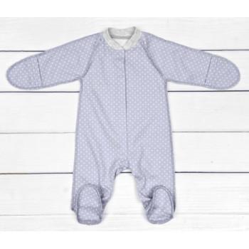 Человечки 56 62 размеры для новорожденных в роддом. Ткань интерлок пенье Горошик