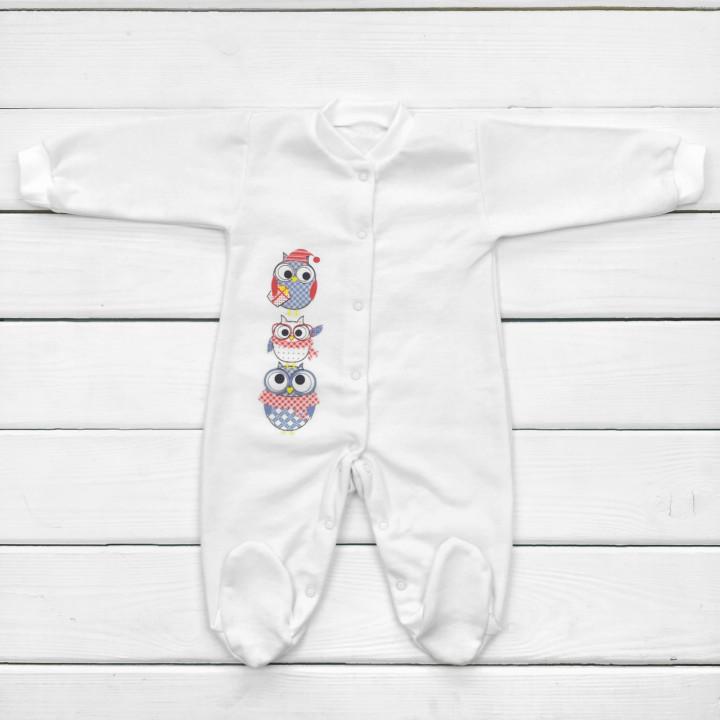 Детский молочный человечек теплый 68 74 размер на возраст 1-3-6-9 месяцев