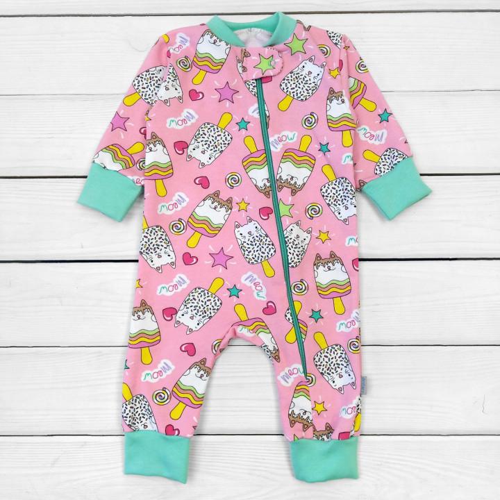 Теплый розовый слип 80 86 92 размеры для девочек до 2-х лет