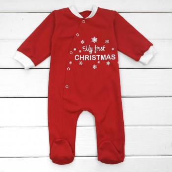 Детский новогодний человечек My first Christmas 80 размер