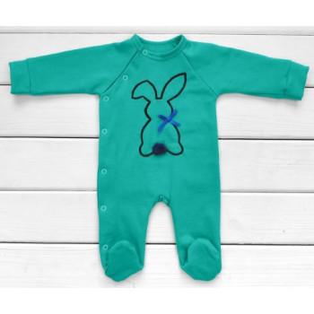 Человечки из ткани футер 50 56 62 размеры для новорожденных Зайчик