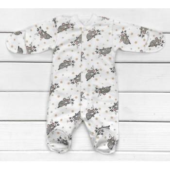 Тепленькие из ткани футер человечки 56 62 68 размеры для малышей Коала