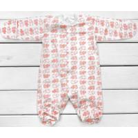 Теплый человечек для новорожденной девочке, размеры 56 62 68