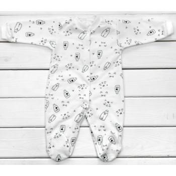 Человечки Футер Milk Молочный 62 74 размеры для малышей