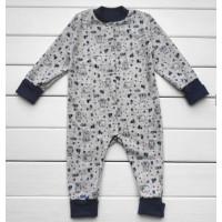 Теплый из футера слип пижама 86 98 размеры для малышей Норвегия