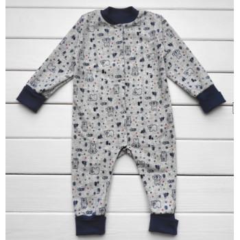 Теплый из футера слип пижама 98 размеры для малышей Норвегия