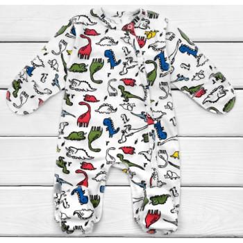 Человечек для новорожденного Дино Интерлок 62 размер