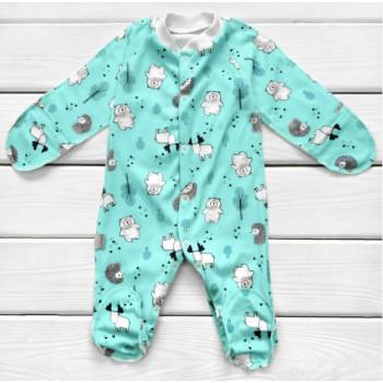 Человечек Мята Интерлок для новорожденного ребенка