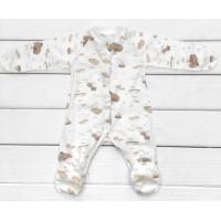 Человечек для младенцев Мамонтенок пошит из тонкой ткани интерлок. Размеры 56 62 68