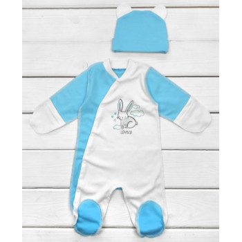Человечки с шапочкой Интерлок 56 62 для новорожденных мальчиков
