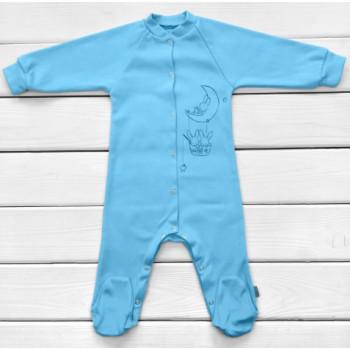 Человечек 68 размера Интерлок Голубой для мальчиков