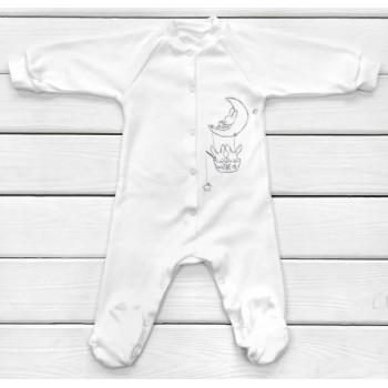 Человечек Молочный 68 размера Интерлок для малыша
