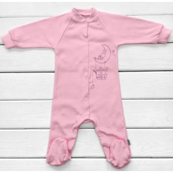 Человечек Розовый 68 размера Интерлок для девочек