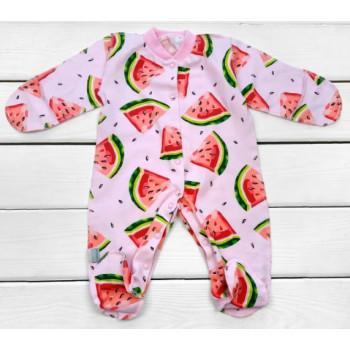 Человечек Розовый Арбузик Кулир Размеры 50 56 для новорожденных девочек
