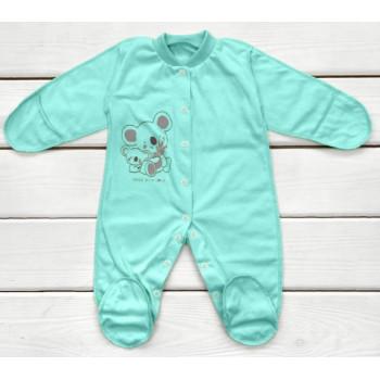 Человечек 50 56 размер Мятный Кулир для новорожденных