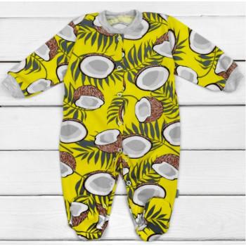Человечек Кокосик Желтый Кулир Размеры 62 для малышей