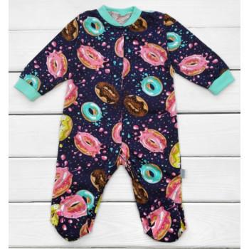 Человечек Темно-синий Пончик Кулир 74 80 размер для малышей