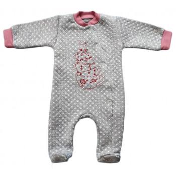 Человечек 56 62 размер (ткань капитон) Зайка в чашке для малышей