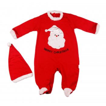 Новогодний человечек с шапочкой Merry Christmas 62 68 74 80 р. для детей до года