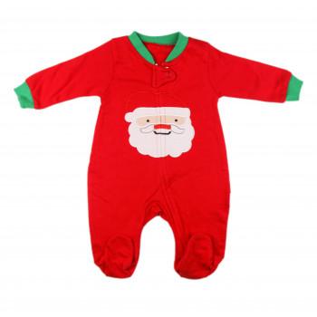 Новогодний красный человечек с вышивкой Дедушки Мороза 62 68 74 80 р. для детей до года