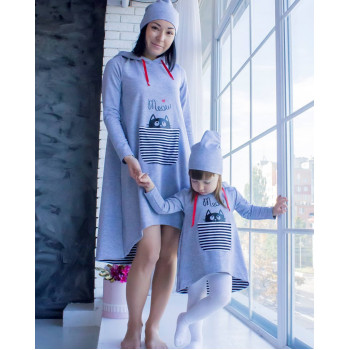 "Family Look ""Кот в кармане"". Мама и дочка 840 грн; мама и сын 920 грн, 1200 грн за 3 единицы"