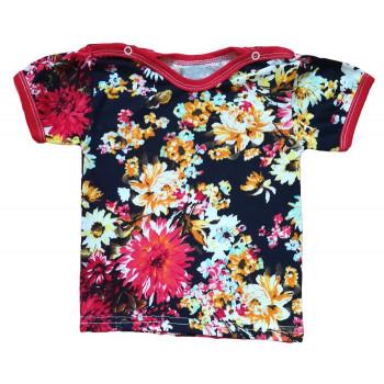 Детская цветная футболка для девочек. Размер 80
