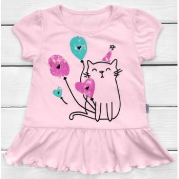 Летняя туника Розовая для девочек 110  размер