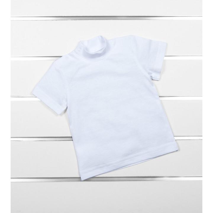 Детская белая футболка гольф