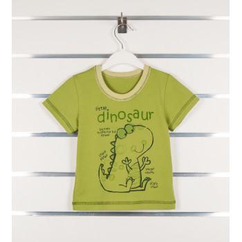 Детская зеленая футболка Дино 92 размер на мальчика 2 года