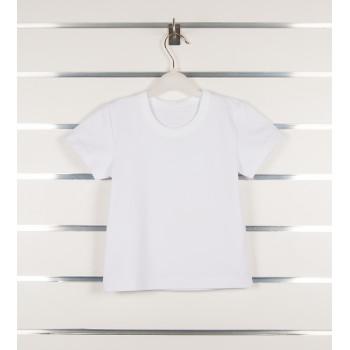 Детская белая футболка 98 110 122 размеры Стрейч кулир