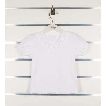 Белая нарядная футболка 80 размеры для девочек