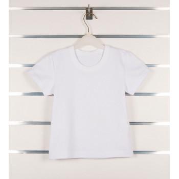 Детская белая футболка Кулир 92 104 110 размеры