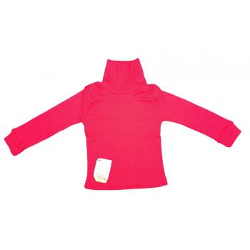 Теплый детский красный гольф 80 размера на годик